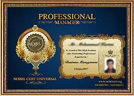 Professional Manager Nobel Cert Universal