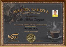 مدرک باریستا و قهوه